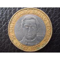 R Dominicana - Moneda Bimetalica De 5 Pesos, Año 1997 - M/b