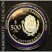 Subasta Moneda De Plata Uruguay - 250º Salto - Sin Circular