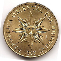 Moneda De Uruguay 5 Pesos Año 1969 Km#53