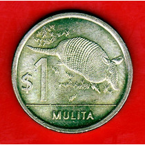 Uruguay 1 Peso 2011 Mulita - Seria Fauna