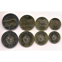 Nueva Serie De 4 Monedas Uruguay Año 2011 Fauna Bimetalica