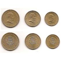 America Lote De 3 Monedas De Uruguay 10/5/1 Peso Año 1965