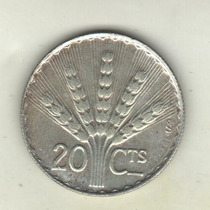 Uruguay Moneda De 20 Centésimos De Plata Año 1942 Km 29 Xf