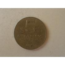 Moneda De Uruguay 5 Pesos Uruguayos Año 2005