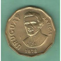 !! Gran Moneda Uruguaya 1n.$ Del Año 1978 Imperdible !!
