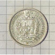 Venezuela 1 Bolivar Plata 1965 Sin Circular