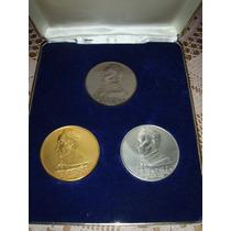3 Monedas Rep.bolivariana De Venezuela Ed.limitada Oro Plata
