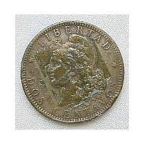 Argentina, Moneda De 2 Centavos De 1884