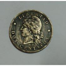 Moneda Argentina 2 Centavos Cobre 1884 - Olavarría