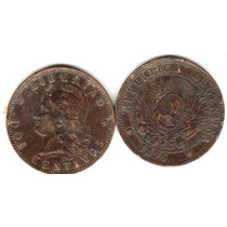 Moneda De Cobre De 2 Centavos De Patacon Año 1896 Muy Buena-