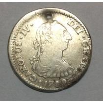 Moneda Potosí 1 Real 1789. Carlos Iv. Plata