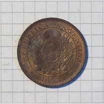 Patacon 2 Centavos 1893 Flor De Cuño