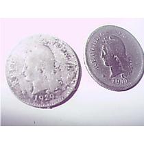 Argentina 10 Centavos 1929 Y 1930 Dos Monedas !!!!