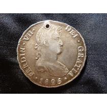 Potosi Moneda De 8 Reales Ferdin Vii 1825 Plata.f9/15