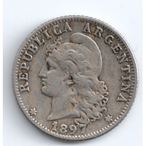 1897 - 20 Centavos- Argentina - Niquel - Mb+