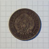 Patacon 2 Centavos 1882 Muy Rara