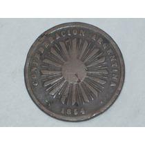 Confederación Argentina - Dos Centavos. 1854 Muy Antigua..