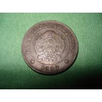 Moneda Argentina 1 Centavo De Patacon 1889 Buena Patina