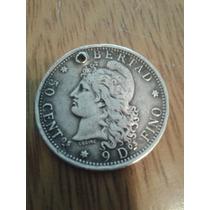 Moneda Argentina De 50 Centavos De 1882