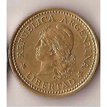 50 Centavos 1975 Canto Grueso Unc 334.3