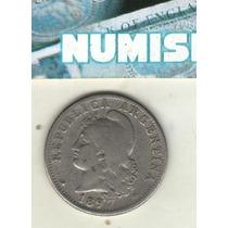 Argentina Niquel 20 Centavos Año 1897 Cj#53.2 - Mb-