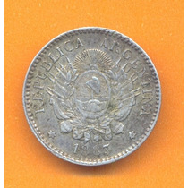 10 Centavos Patacon 1883 Plata Argentina Muy Buena