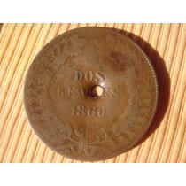 Argentina : Antigua Moneda De 2 Reales 1860