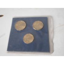 Blister Original Con Tres Monedas Del Mundial Argentina 78