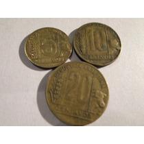 Argentina: Lote Monedas 5, 10 Y 20 Ctvs, Año 1950