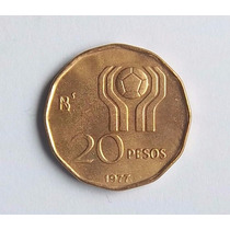 Argentina 20 Pesos 1977 Mundial 1978 Sin Circular
