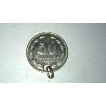 Moneda De 50 Centavos Niquel Argentina 1941