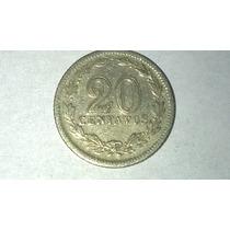 Antigua Moneda De 20 Centavos Argentina Año 1938