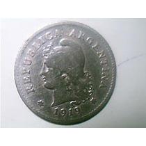 Argentina 10 Centavos 1919 Mb