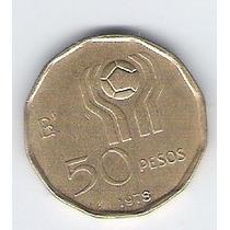 Moneda 50 Pesos Conmemorativa Mundial 78