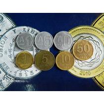 7 Monedas 1 5 10 50 Ctv 1 5 10 Australes Muy Buenas!!