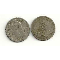 Moneda Argentina Niquel 5 Centavos Año 1903 Buena-