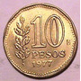 Moneda - 10 Pesos - Argentina - Año 1977 Bicent. Ate. Brown
