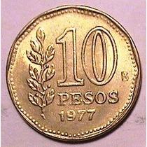 Moneda - 10 Pesos - Argentina - Año 1977 Bicent. Ate. Brown