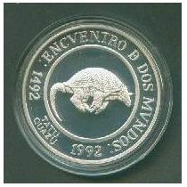 Moneda Plata 2ª Serie Iberoamericana Tatu Guazu Año 1994
