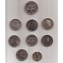 9 Monedas Conmemorativas Argentinas Exc / S.c !!!