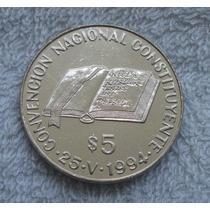5 Pesos Convención Constituyente 1994 Estado Exc