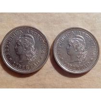 Argentina 2 Antiguas Monedas 1 Peso Año 1958 Excelentes ++!