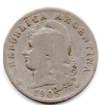 Moneda Argentina Muy Antigua 20 Ctvs.1905.hermosa.muy Escasa