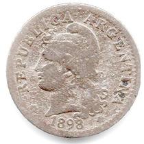 Moneda Argentina 5 Ctvs.1898..muy Escasa.