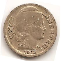 Argentina Moneda 5 Centavos Año 1943 Torito Cj#215