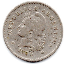 Moneda Argentina Antigua 10 Ctvs.1936.muy Buena.