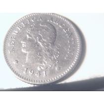 Argentina Niquel 10 Centavos 1941 Excelente