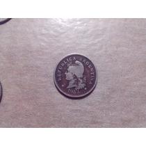 Argentina Moneda Antigua 10 Centavos 1933, Patina Increible!