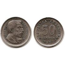 Argentina Moneda Del Año 1952 De 50 Centavos Cj223 Ver Foto