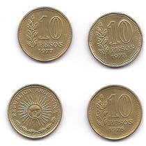 Moneda 10 Pesos 1976-1977-1978